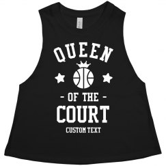 Custom Basketball Queen Crop Tank