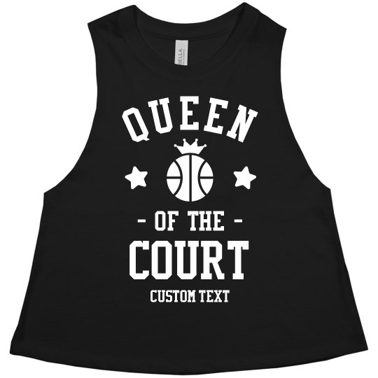 1305a6f6dfe9e6 Custom Basketball Queen Crop Tank Ladies Racerback Cropped Premium Tank Top