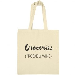 Groceries (Probably Wine) Tote Bag