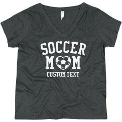 Customizable Soccer Mom Curvy Tee