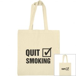 Quit Smoking Vape Check Tote