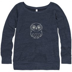 Blue Sweater with Owl