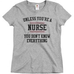 Nurses know everything