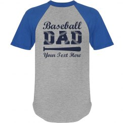 Baseball Laces Dad Shirt
