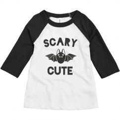 Scary Cute Halloween Toddler Raglan