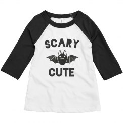 Scary Cute Halloween Toddler Raglan