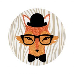 Trendy Bow Tie Hipster Fox