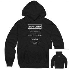 Seasoned Hoodie Black/White Unisex