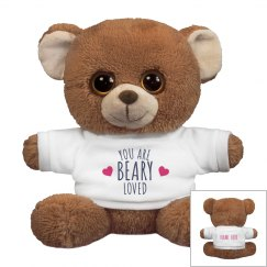 Beary Loved Custom Bear