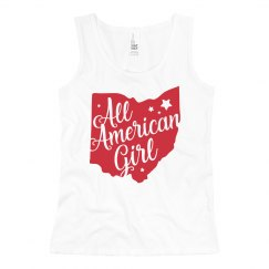 All American Girl 4th of July Girl's Cute Tank