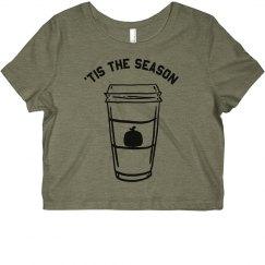 Tis The Season Coffee Crop Top