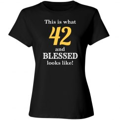 42 and blessed looks like