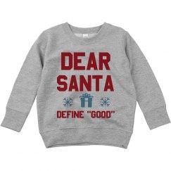 Dear Santa Funny Toddler Sweater