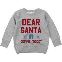 Dear Santa Funny Toddler Sweater