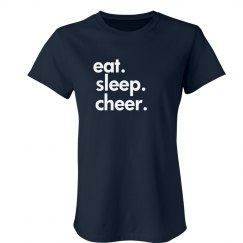 eat. sleep. cheer. tee