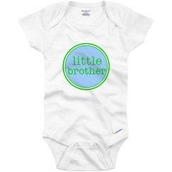 Little Brother Onesie Blue Green