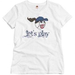 Let's Play Baseball Face Screaming Sports Athletics