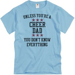 Cheer dad knows all