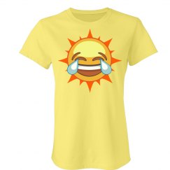 Laugh Sun Emoji T-Shirt