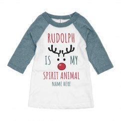 Rudolph is my Spirit Animal Kids Raglan