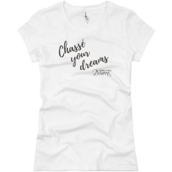 chasse your dreams crop tee