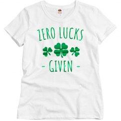 Zero Lucks Given Green Metallic