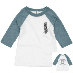 Toddler Raglan Tee with Kanji and Logo