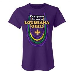 Louisiana Girl Mardi Gras