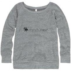 Women's Wide Collar Gray Sweatshirt