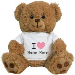 Love You Custom Bear Couple Gifts
