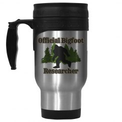 Official Bigfoot Researcher Stainless Steel Travel Mug