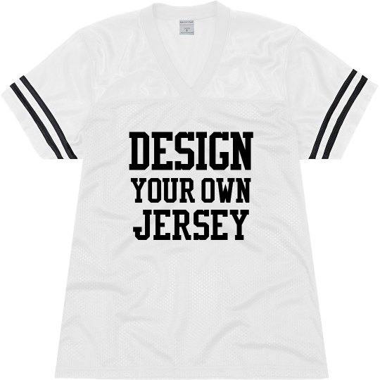 a9b191b0b00 Design Your Own Football Jersey Ladies Relaxed Fit Mesh Football Jersey:  Shirts for Every Party!