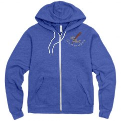 UNISEX ZIP HOODIE ATHLETIC HEATHER UP TO 2XL