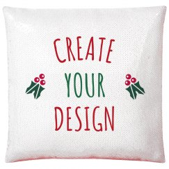 Create Your Custom Red Sequin Pillowcase for Christmas