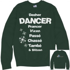 Christmas instructor Recital Sweater