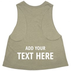 Workout Tank Custom Back Print