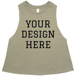 Custom Workout Crop Top For Gym