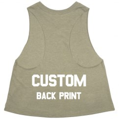 Custom Back Print Fitness Crop