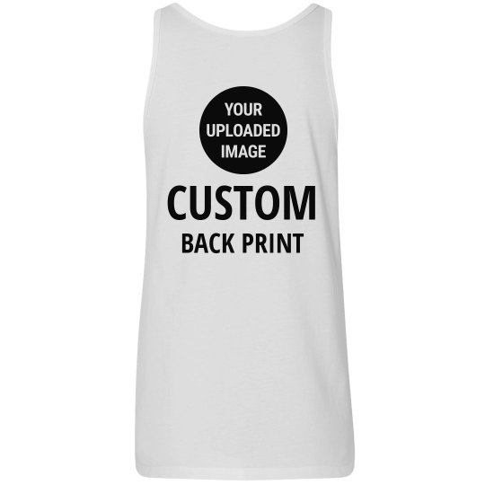 c1f6a97dbb Custom Uploaded Logo Back Print Ladies Relaxed Fit Tank Top