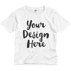 Add Your Design Here Youth Promo Tee