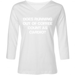 DOES RUNNING OUT OF COFFEE COUNT AS CARDIO?