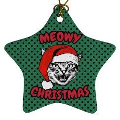 Meowy Christmas Ornament