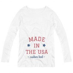 Made in the USA Custom Maternity Long-Sleeve Tee