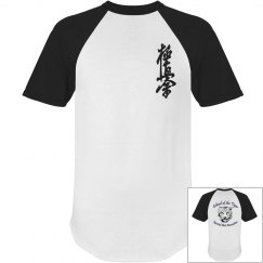 Short Sleeve Raglan Tee with Kanji and Logo