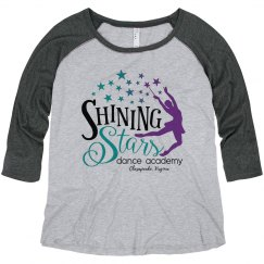 Ladies Plus Size Logo Raglan