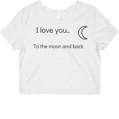 Moon and back shirt