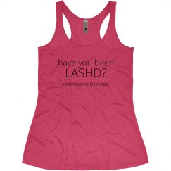 have you been LASHD? Junior Racerback Tank