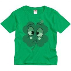 Cute Shamrock Youths Tee Shirt