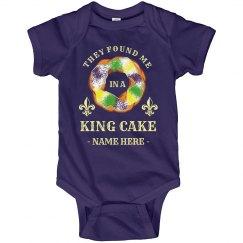 Found Me in a King Cake Custom Onesie