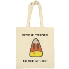 Halloween Tote Bag - Candy Corn -Give Me All Your Candy
